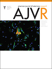 Cover image from the American Journal of Veterinary Research