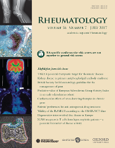 Cover image from Rheumatology (journal)